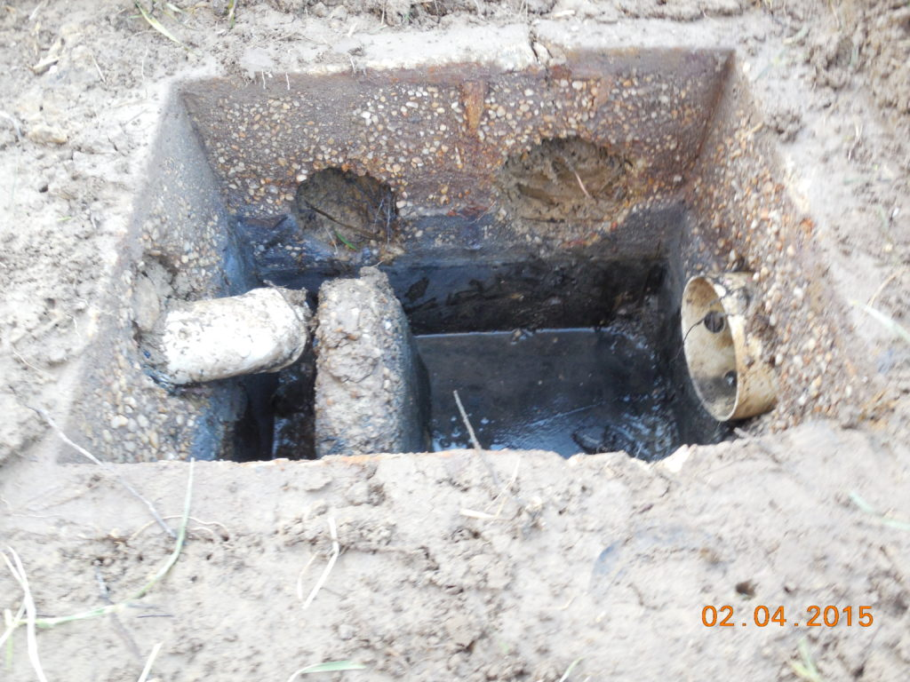 Septic System before Repairs by Livingston Septic