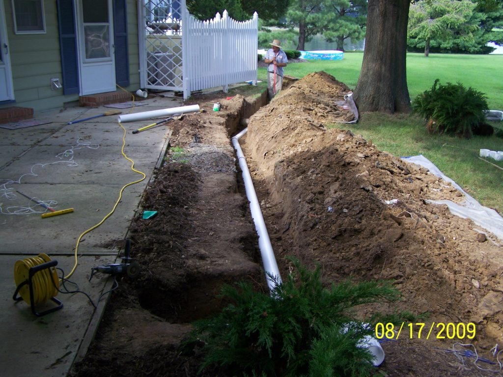 New Drain Line Installed by Livingston Septic